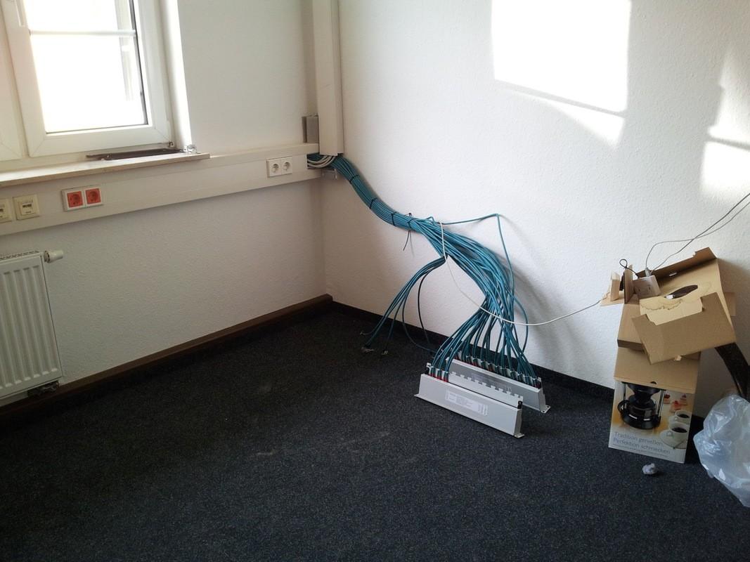 Netzwerkkabel die es zu verbinden galt