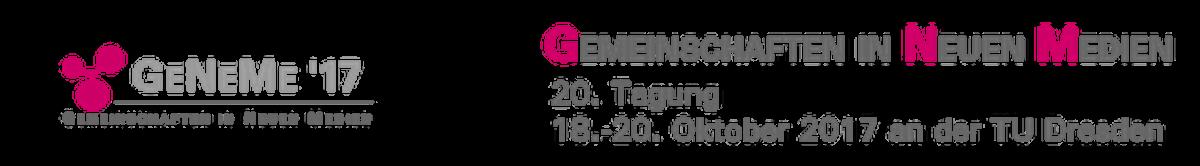 GeNeMe 20. Tagung Gemeinschaften in Neuen Medien