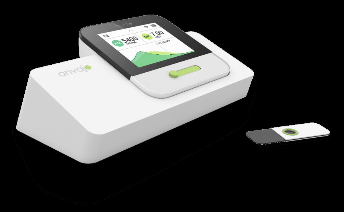 Das Minilab der Anvajo GmbH ermöglicht einfach und kostengünstige labordiagnostische Tests. (Quelle: Anvajo GmbH)