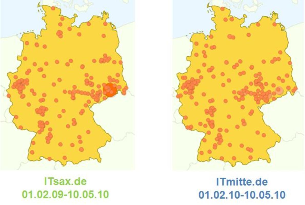 Deutschlandweite Zugriffe auf ITsax.de und ITmitte.de